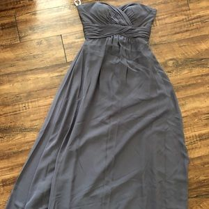 Pretty Maid's  charcoal bridesmaid dress in size 6